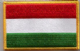 Hungary Embroidered Flag Patch, style 08.